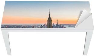 New York Skyline at sunset Table & Desk Veneer