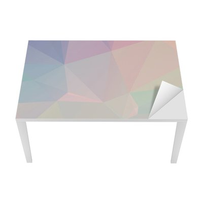Pastel Polygon Geometric Table & Desk Veneer