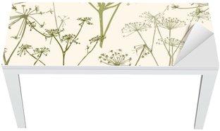 pattern of the umbrella flowers Table & Desk Veneer