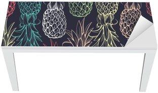 Pineapples seamless pattern Table & Desk Veneer