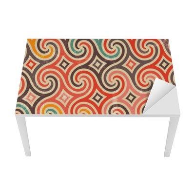 Retro pattern with swirls. Table & Desk Veneer