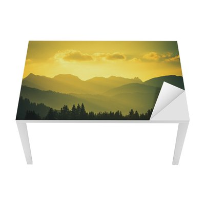 Scenic Mountain Landscape Table & Desk Veneer