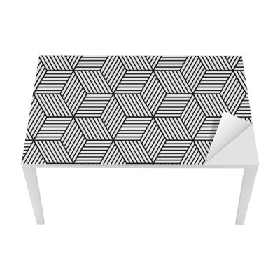 Seamless geometric pattern with cubes Table & Desk Veneer