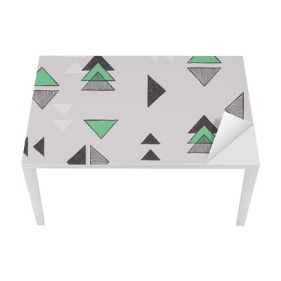 Seamless hand-drawn triangles pattern. Table & Desk Veneer