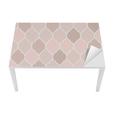 Seamless pattern pink tiles, vector Table & Desk Veneer