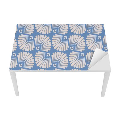 seamless vintage pattern with stylized seashells Table & Desk Veneer
