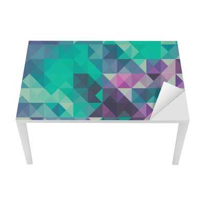 Triangle background, green and violet Table & Desk Veneer