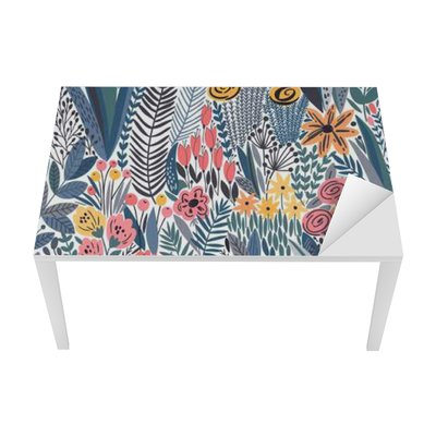 Tropical seamless floral pattern Table & Desk Veneer