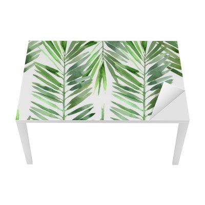watercolor palm tree leaf seamless Table & Desk Veneer
