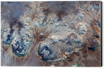 Tableau Alu-Dibond Fleurs sous-marines allégorie, plante Pierre imaginaire, abstrait Naturalisme, résumé photographie déserts de l'Afrique de l'air, le surréalisme abstrait, mirage, formes fantastiques dans le désert, les plantes, les fleurs, les feuilles,