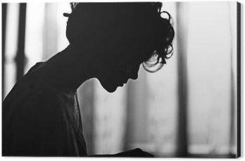 Tableau Alu-Dibond Silhouette girl portrait