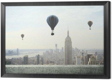 Tableau en Cadre Ballon à air sur le ciel