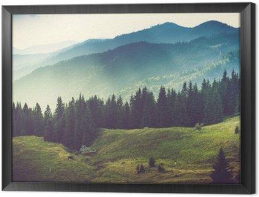 Tableau en Cadre Beau paysage de montagne l'été