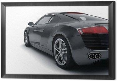 Tableau en Cadre Black sports car
