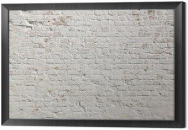Tableau en Cadre Blanc grunge fond mur de briques