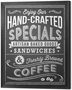 Tableau en Cadre Chalkboard Menu Background