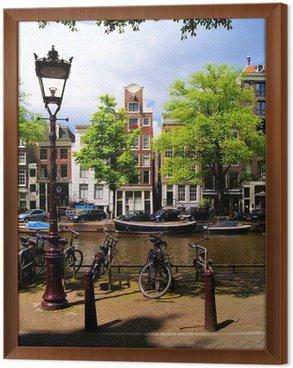 Tableau en Cadre Classic Amsterdam canal scène