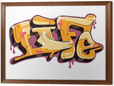 Tableau en Cadre Conception de graffiti texte vectoriel