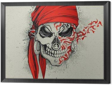 Tableau en Cadre Contexte crâne