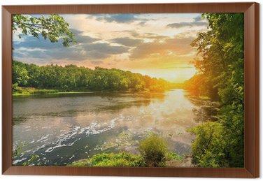 Tableau en Cadre Coucher de soleil sur la rivière