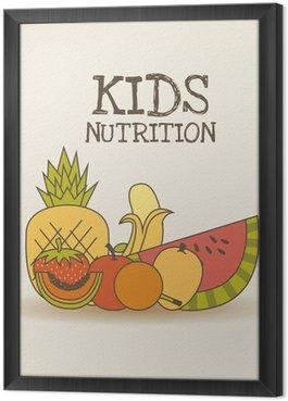 Tableau en Cadre Enfants nutrition