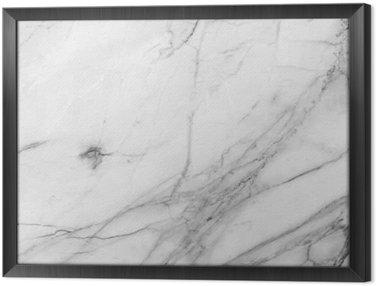 Tableau en Cadre Fond blanc mur de marbre texture