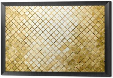 Tableau en Cadre Fond clair avec des formes carrées