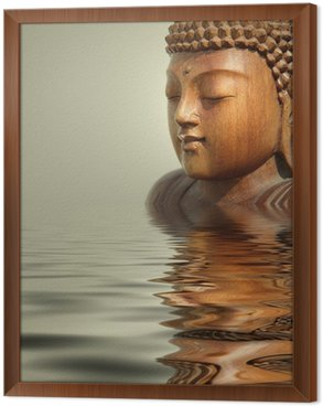 Tableau en Cadre Fond de l'eau bouddha