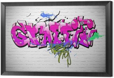 Tableau en Cadre Graffiti mur de fond, l'art urbain