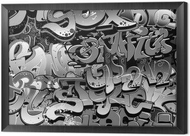 Tableau en Cadre Graffiti seamless. Texture art urbain