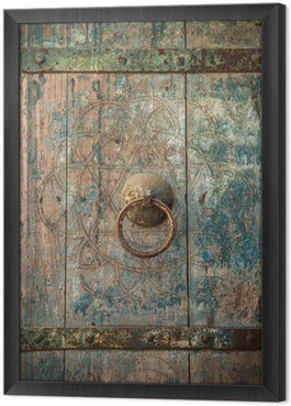 Tableau en Cadre Gros plan image de portes anciennes