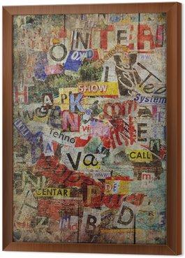 Tableau en Cadre Grunge Textured Background
