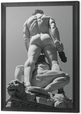 Tableau en Cadre Hercule et Cacus sculpture par Baccio Bandinelli