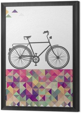 Tableau en Cadre Hipsters rétro vélo éléments géométriques.