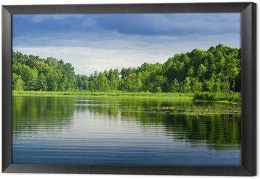 Tableau en Cadre Lac et la forêt.