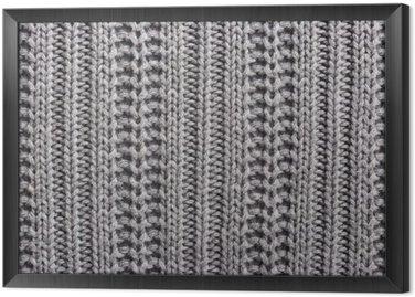 Tableau en Cadre Laine à tricoter close up texture