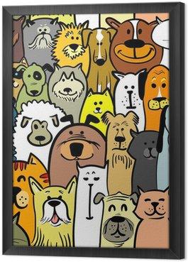 Tableau en Cadre Les chiens et les chats