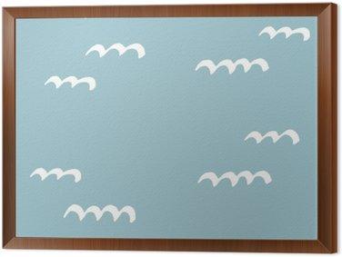 Tableau en Cadre Les modèles sans couture dessinés à la main. Motif pour une utilisation sur le papier d'emballage, des cartes de vœux et des articles-cadeaux