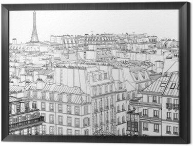 Tableau en Cadre Les toits de Paris