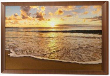 Tableau en Cadre Magnifique coucher de soleil sur la plage