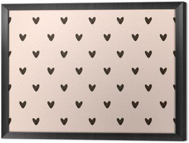 Tableau en Cadre Motif coeur transparent