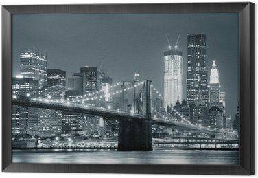 Tableau en Cadre New york city brooklyn bridge