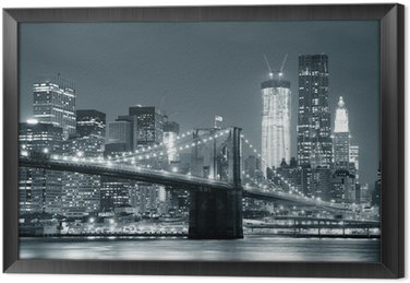 Tableau en Cadre New york city brooklyn bridge