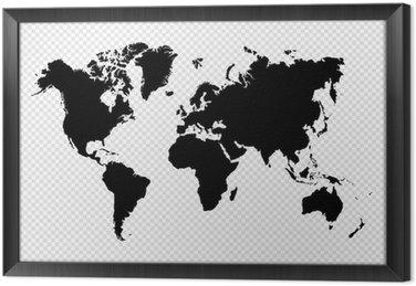 Tableau en Cadre Noir isolé carte fichier vectoriel EPS10 mondiale.