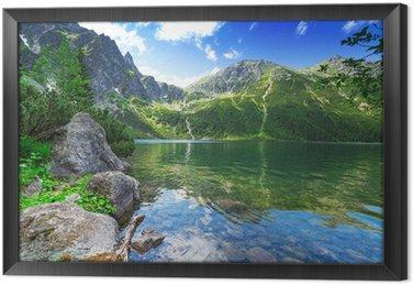 Tableau en Cadre Oeil du lac mer dans les montagnes des Tatras, Pologne