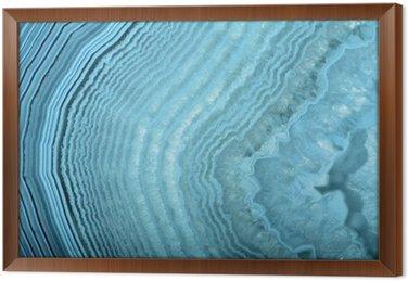 Tableau en Cadre Ondes dans la structure agate bleu clair