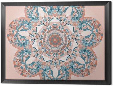 Tableau en Cadre Oriental mandala motif
