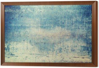 Tableau en Cadre Orienté horizontalement de couleur bleue grunge