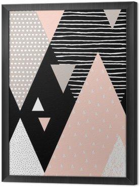Tableau en Cadre Paysage abstrait géométrique