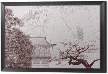 Tableau en Cadre Paysage chinois